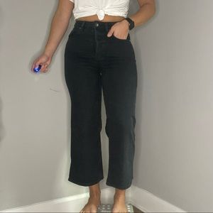Free People high rise cropped flare denim 27
